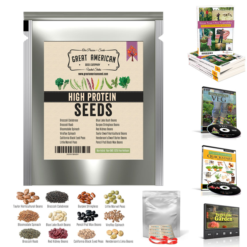 Heirloom Survival Seeds High Protein Pack: Main Image