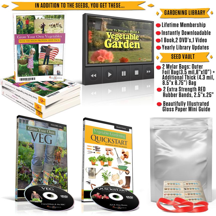 Heirloom Beans High Protein Pack: Bonuses: Garden Library + Seed Vault