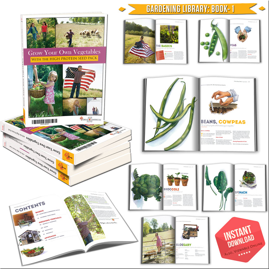Heirloom Beans High Protein Pack: Garden Library - Book 1: Grow Your Own Veg with the High Protein Seed Pack